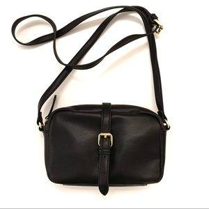 Faux-Leather Black Purse